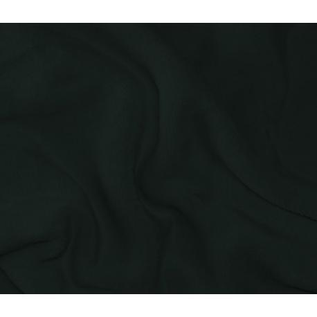 Mikroplyšové prostěradlo 180 x 200 cm- ČERNÁ