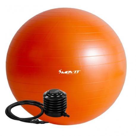 Gymnastický míč MOVIT s pumpou - 85 cm - oranžový