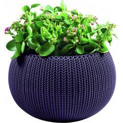 Květináč COZIES KNIT - M - tmavě fialová