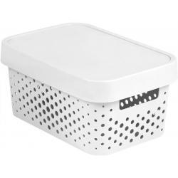 Úložný box INFINITY DOTS 4,5L - bílý