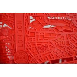Zahradní párty stan STILISTA nůžkový 3x3 m - červená burgundská