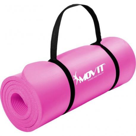 Gymnastická podložka Movit 183 x 60 x 1 cm - růžová