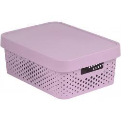 Úložný box INFINITY DOTS 11L - růžový