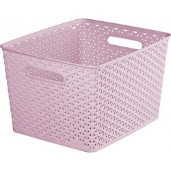 KOŠ PLASTOVÝ box - L - růžový CURVER