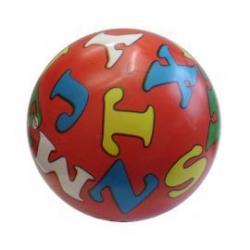 Potištěný míč s abecedou - 230 mm