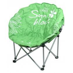 Kempingová skládací židle FLOWERS - zelená