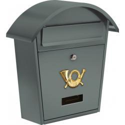Poštovní schránka se stříškou oblou - šedá