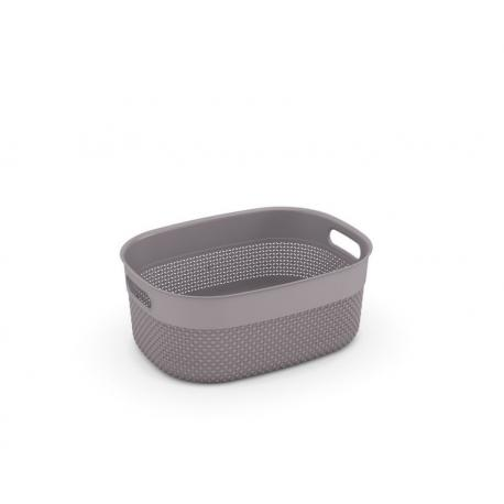 Plastový košík FILO košík - hnědošedý