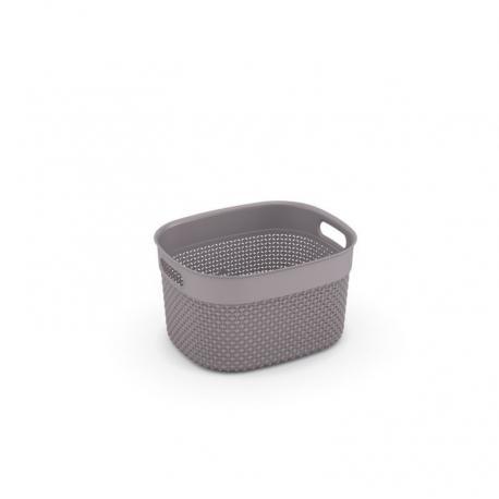 Plastový košík FILO S - hnědošedá