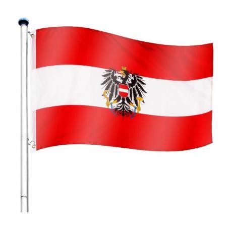 Vlajkový stožár vč. vlajky Rakousko - 650 cm