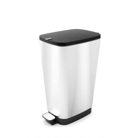 Odpadkový koš CHIC  35 L - stříbrný