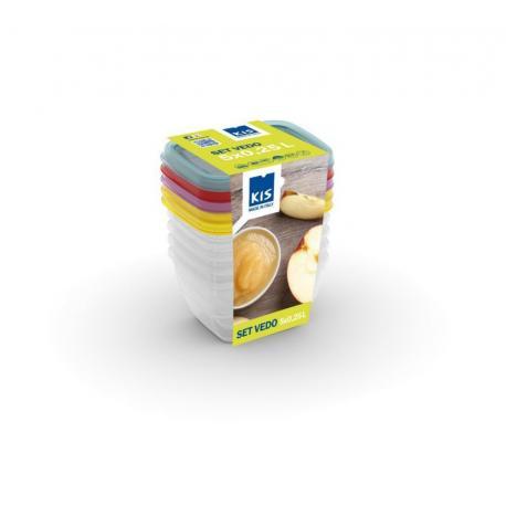 Set potravinových dóz VEDO - 5x0,25L