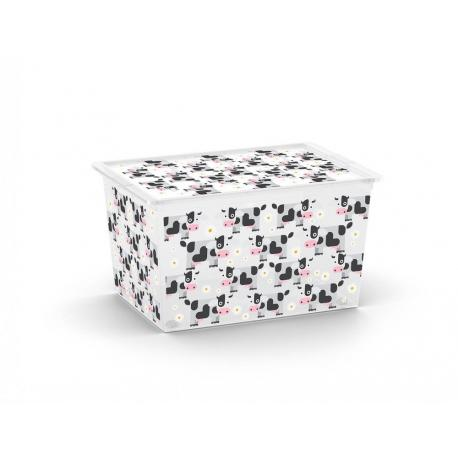 Plastový úložný KIS C box ANIMAL -XL - kravičky