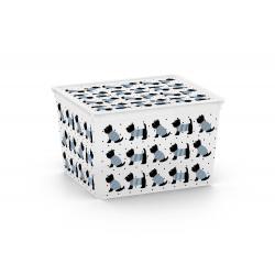 Plastový úložný KIS C box ANIMAL -CUBE - pejsci