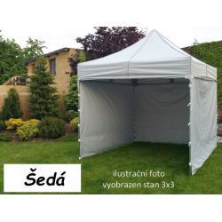 Zahradní párty stan PROFI STEEL 3 x 6 - šedá