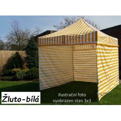 Zahradní párty stan PROFI STEEL 3 x 6 - žluto-bílá
