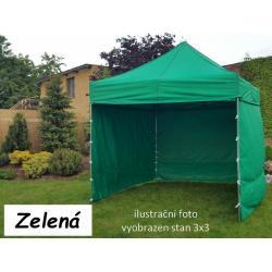 Zahradní párty stan PROFI STEEL 3 x 4,5 - zelená