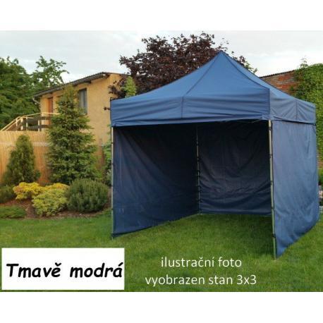 Zahradní párty stan PROFI STEEL 3 x 4,5 - tmavě modrá