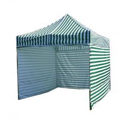 Zahradní párty stan PROFI STEEL 3 x 3 - zeleno-bílá pruhovaná