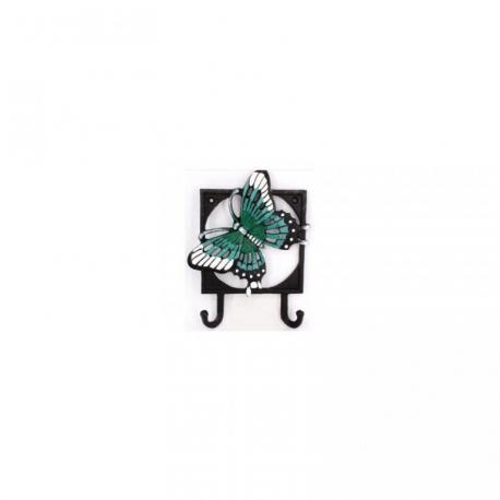 Kovový věšák - háček Motýl 2