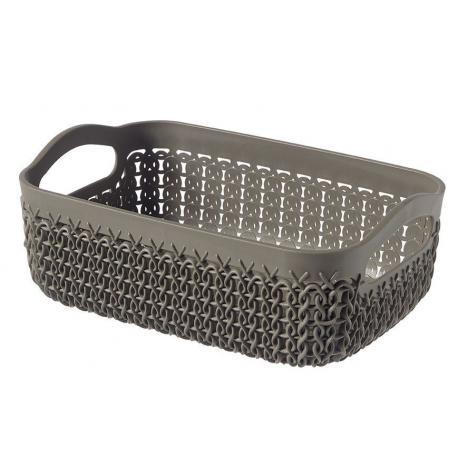 Polyratanový košíček KNIT A6 - hnědý