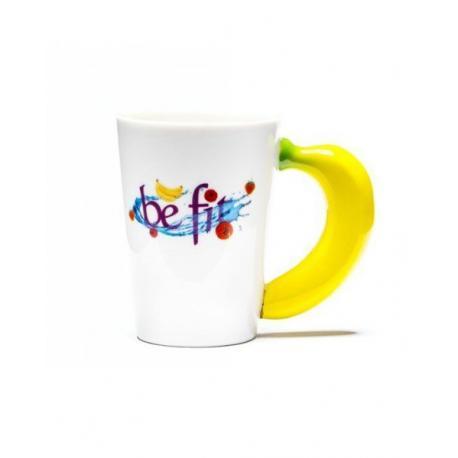 Hrnek buď FIT  - Hrnek buď FIT – banán