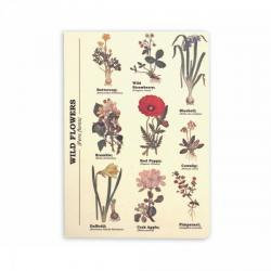 Poznámkový blok A5 s divokými květinami