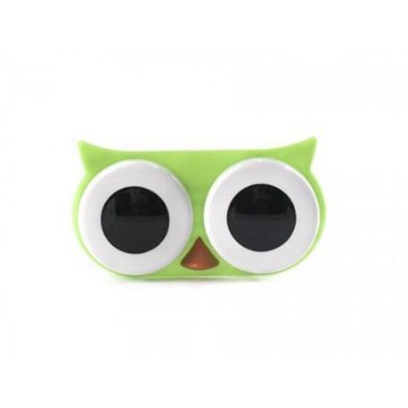 Pouzdro na kontaktní čočky - sova zelená