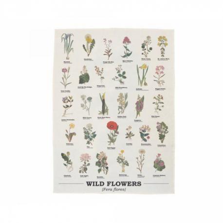 Kuchyňská zástěra s divokými květinami
