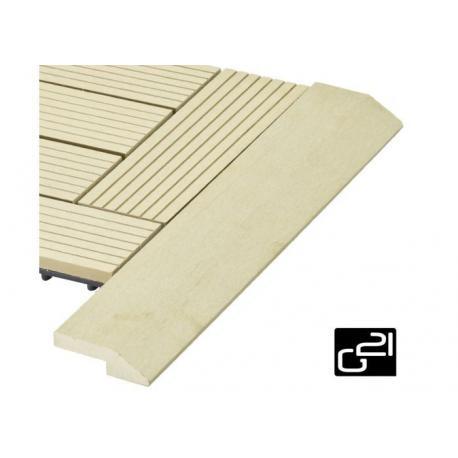 Přechodová lišta G21 pro WPC dlaždice Cumaru 38,5x7,5 cm rohová