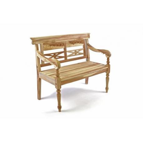 DIVERO dřevěná  2-místná lavice pro děti z teakového dřeva