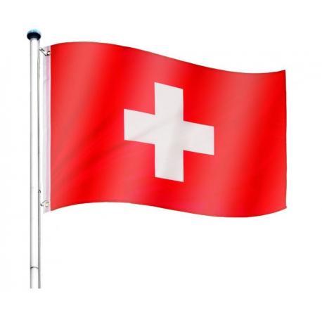 Vlajkový stožár vč. vlajky Švýcarsko - 650 cm