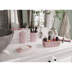 Plastový kelímek na kartáčky FILO - růžový