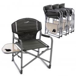 Sada 4 x kempinková židle se stolkem a držákem nápojů