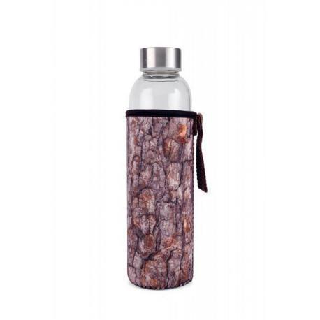 Skleněná láhev s dřevěným obalem