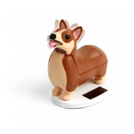 Solární pes Corgi na stůl
