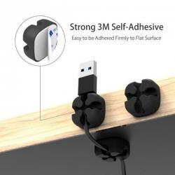 Silikonové držáky kabelů - 10ks