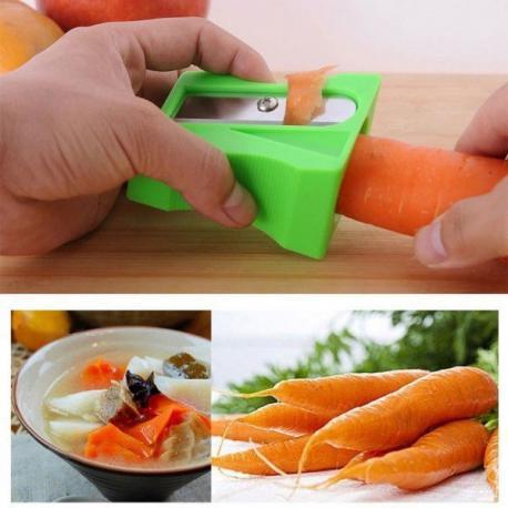 Ořezávátko a škrabka na mrkev a zeleninu - Zelená