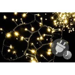 Vánoční LED osvětlení 1000 diod - bohatý řetěz - teple bílá 20 m