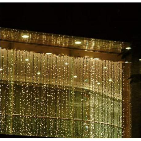 Vánoční osvětlení - světelný závěs - 3x6 m teple bílá 600 LED