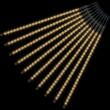 Vánoční LED osvětlení - padající sníh - 240 LED teple bílá