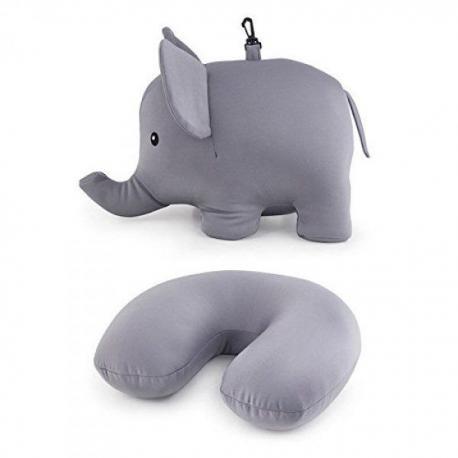 Oboustranný cestovní polštářek ve tvaru slona