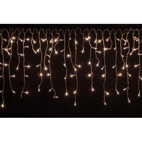 Vánoční světelný déšť 600 LED teple bílá - 15 m