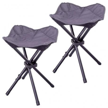 Kempinková stolička třínožka - 2 kusy