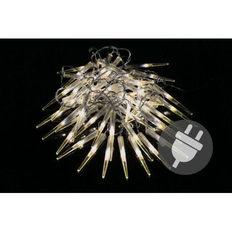 Vánoční dekorativní osvětlení - rampouchy - 60 LED teple bílá