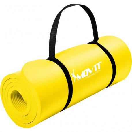Gymnastická podložka Movit 183 x 60 x 1 cm - žlutá