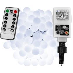 Párty LED osvětlení 20 m - studená bílá 200 diod + ovladač