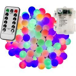 Párty LED osvětlení 10 m - barevné 100diod - BATERIE ovladač