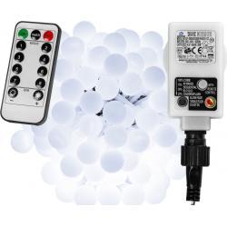 Párty LED osvětlení 5 m - studená bílá 50 diod + ovladač