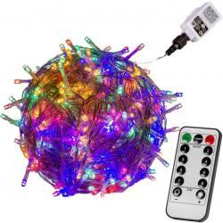 Vánoční osvětlení 60 m - barevný 600 LED + ovladač